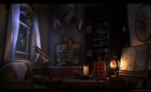 Captain's Cabin at Night by uoa7