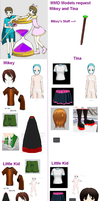 Hourglass of Youth Mascots - MMD model request by MoonwolfYouthOtaku