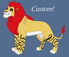 Custom Lion for Awesomesauce2014 by BlackWolf1112-ADOPTS