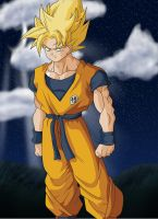 Goku Super Saiyan Colored by luffy12356