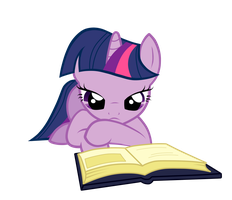 Reading Twilight by fluttershy7