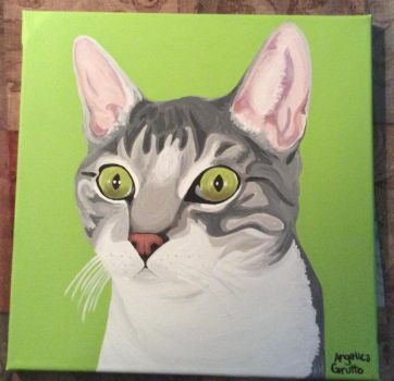 Green Eyed Cat by Rumpy1993