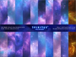 20 FREE SPACE BACKGROUNDS - PACK 1 by ERA-7