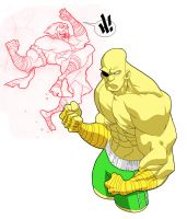 Sagat and Adon... by pencil-ninja
