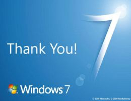 Windows 7 Thank You Promo Card by Randydorney