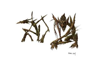 wood creatures by TheBeke