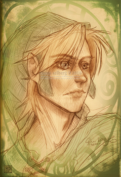 Pencilsketch of Link by Jontamar