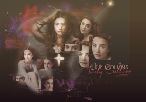 Lily Collins by Vee-Deviant
