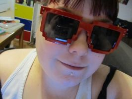 me with my 8 bit sun glasses by AnaInTheStars