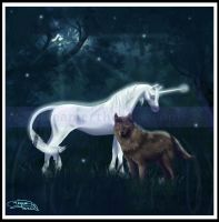 The Unicorn and the Wolf by dreamertheresa