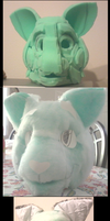 First Fursuit Head by That-CrazyCat