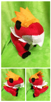 Tyrantrum Palm Plush by Glacdeas