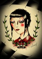 Skinhead girl pride by Acheu