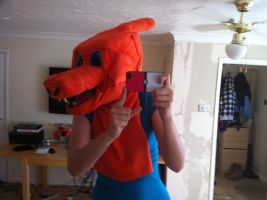 charizard cosplay head improved 4 by DanteJackpot