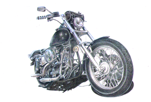 Motobike_pencil by IntegrityIce