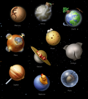 Solar System Icons by FreeIconsFinder