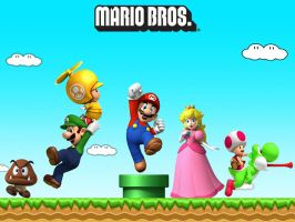 Wallpaper - Mario Bros by ArkadyNekozukii