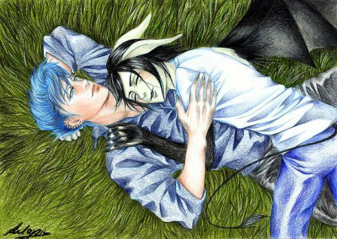 Grimmulqui: lying in the grass by Anlapis