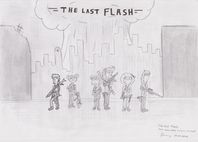 Cover Sketch The Last Flash by InsaneSamantha