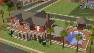 Sims2 Persian home by RamboRocky
