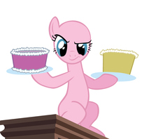 BASE: I'm assaulting him with cake by GoldenAvi