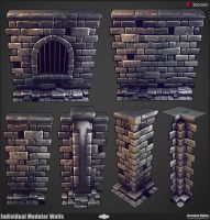 Modular Dungeon Wall Breakdown by JeremiahBigley