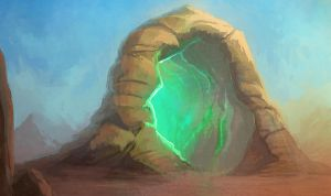 Twisting Rock Portal by cubehero