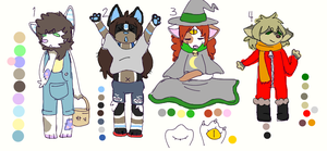 Cheep cheep adopts (1 and 4 left) by Bloo-Mutt