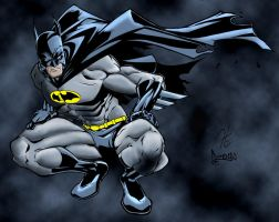 Batman Coloured by Haluuzengenix