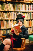 Black Butler - Ciel reading by rajamitsu