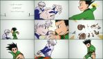 (Hunter X Hunter) Gon vs Killua fan-animation by HTanimation