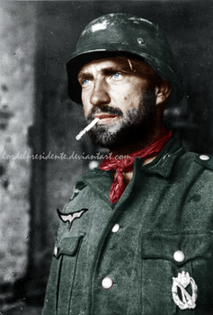 German Soldier on Stalingrad RECOLOR by lordelpresidente