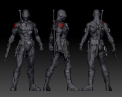 Snake Eyes from G.I. Joe by Tecrom-Designs