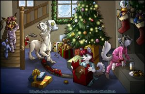Christmas Kids Commission by lady-cybercat