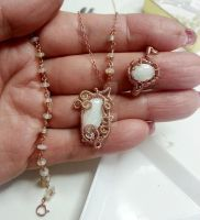 Opal Necklace and ring by CrysallisCreations
