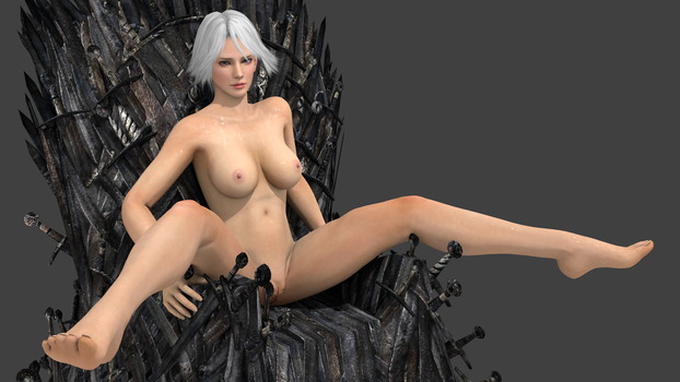 Christie and Iron Throne 1 by vamp3003