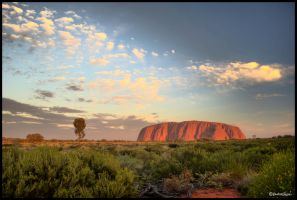 Uluru sunset HDR by andrearossi