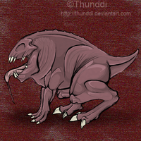 Creature from dream by Thunddi