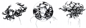 Weightless Hair Doodles by characterundefined