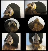 Wallago attu Fish Head Hair Piece by systemcat