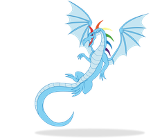 Rainbow dash dragon by Elsdrake