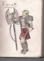 Korak the Gladiator by lordofpencil