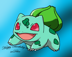 Bulbasaur Birthday by Mischief-Moose