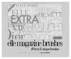 elle magazine brushes, by allisonwashko