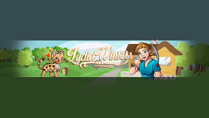 Lydia Winters (MinecraftChick) - Youtube Banner by FinsGraphics