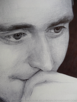 Tom Hiddleston Ballpoint Drawing by Bubblegum-Jellybean