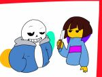 Sans and knife by mynekoheart