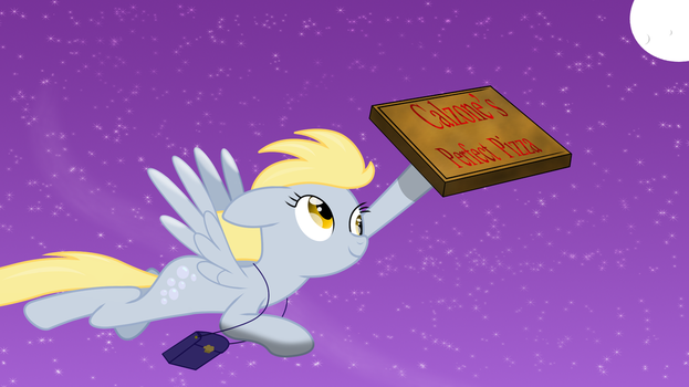 Derpy Pizza Delivery by Amana07