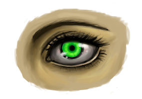 Tried drawing a realistic-ish looking eye by TheCheeseburger