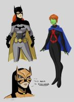 Young Justice Gals by ComickerGirl